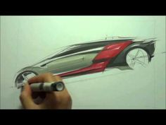 ▶ how to sketch car (sketch demonstration) - YouTube