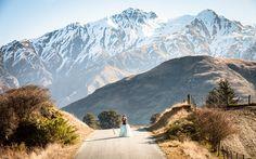 Runaway Bride shoot in Wanaka.. taken by Glendhu Station Photo- Fluidphoto. Flowers & styling - Crimson Wedding Flowers. Hair & makeup - Road to Beauty