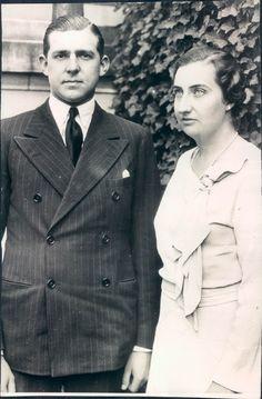 Infante don Juan of Spain with fiancee, Pss Maria de las Mercedes Bourbon- due sicilie and Orleans.1935