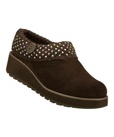 Take a look at this Chocolate Suede Diamond Sky Visioneers Clog by Skechers on #zulily today! Oh dear! Might have to buy three pair of these. They are just too cute and the colors are fab.