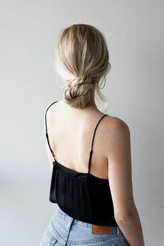 HOW TO: 3 EASY Low Bun Hairstyles - Alex Gaboury Side Bun Hairstyles, Try On Hairstyles, Trending Hairstyles, Updos Hairstyle, Blonde Hairstyles, Hairstyles Videos, Bridal Hairstyles, Formal Hairstyles, Chignon Bun