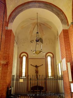 Church of Santa Maria Rossa in Crescenzago in Milan (Italy): Chapel of Santa Caterina with the remains of ancient frescos