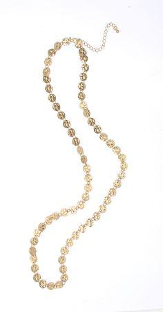 Ibero Madagaskar Collection golden necklace. Ibero madagakar malliston kultainen kaulakoru.