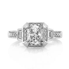 Mark Broumand - 2.51ct Cushion Cut Diamond Engagement Ring #3637-1