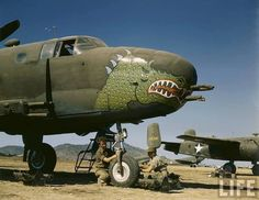 A B-25 Mitchell medium bomber in Australia (1942)