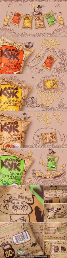 Corn Curls John Cook Creative Agency: Fabula Branding  Client: Lidkon OJCS  Location: Belarus  Project Type: Commercial Work