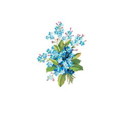 Vintage floral temporary tattoo  blue by stayathomegypsyshop, $7.00