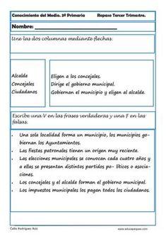 conocimiento del medio primaria 13 Social Science, Socialism, 3rd Trimester, True Quotes, Knowledge, Note Cards, Social Studies