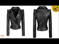 Women Leather Jackets Designer Zipper Pleated Sewing Black Leather Jackets www.cwmalls.com - YouTube