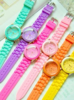 Neon Candy | Watch female fashion green mint candy neon color HARAJUKU the trend ...