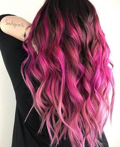 Breathtaking Pink Color Design by @sadiejcre8s Sadie This color design leaves us speechless... #hotonbeauty . . . . #pinkhair #pinkhaircolor #rosehair #shadowroot #refinery29 #teenvogue #buzzfeed #buzzfeedstyle #cosmogirl #popsugar #balayage #ombre #ombrehair