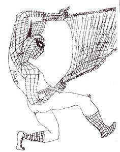 I sketched this Spiderman when I was 6 years old.