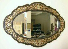 Masif uzerinde elde boyadığım   Ayna çerçevesi. Semra Yahya