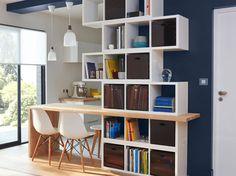 Séparer avec une bibliothèque et une table intégrée
