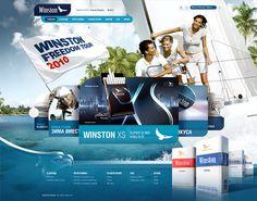 Winston Freedom Tour 2010 on Behance #design #webdesign #layout