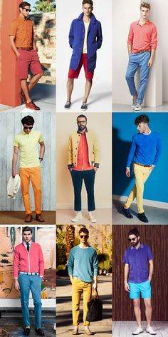 Men's Colour-Blocking and Segmentation Outfit Inspiration Lookbook