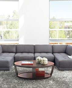 Charcoal Gray Sectional Modular Sofa