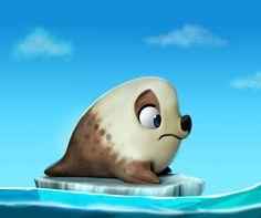 Awww...give him a hug!  Seal, DARLON XIMENES on ArtStation at https://www.artstation.com/artwork/X42JY
