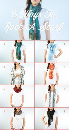 A scarf is the ultimate holiday accessory. Learn 8 new ways to rock a scarf this season from the makers of the Ziploc Holiday Collection.