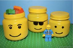 Up-Cycling Baby Food Jar Into Cool Looking LEGO Storage
