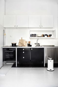 There is no question that designing a new kitchen layout for a large kitchen is much easier than for a small kitchen. A large kitchen provides a designer with adequate space to incorporate many convenient kitchen accessories such as wall ovens, raised. Kitchen Ikea, Ikea Kitchen Design, Modern Kitchen Design, Interior Design Kitchen, New Kitchen, Kitchen Dining, Kitchen Decor, Compact Kitchen, Ikea Design