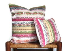 Pillow Cover Knitted Fair Isle Up Cycled by ButtermilkCottage, $30.00