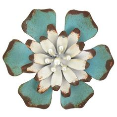 Blue Metal Flower Knob with Pearls | Shop Hobby Lobby