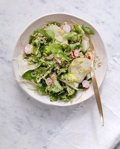Quinoasalat med brokkoli, pære og fennikel