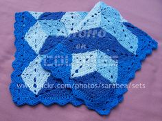 3d illusion afghan block pattern | FANTASÍA - Manta de rombos | Flickr - Photo Sharing!