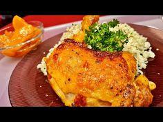 Falusi ropogós jércepecsenye petrezselymes párolt rizzsel, őszibarack kompóttal / Rezsókonyha - YouTube Turkey, Chicken, Meat, Youtube, Food, Turkey Country, Eten, Meals, Cubs