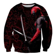 American Comic Badass Deadpool Men/Women Anime Characters 3D Fall Outerwear