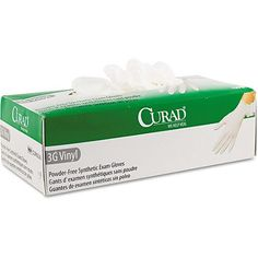 Curad 3G Synthetic Vinyl Powder-Free Synthetic Exam Gloves, 100 count $8 Walmart For college kids with shared bathroom cleaning responsibilities for suite-style dorms