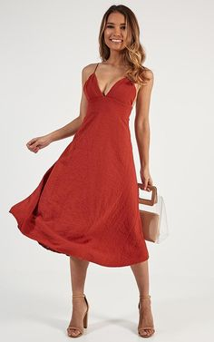 06a0a797e9 Oh Romeo Dress In Rust Produced By SHOWPO Big Closets