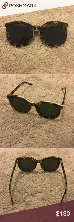 NWOT Karen Walker Super Spaceship Sunglasses New without tag • Karen walker super spaceship sunglasses • tortoise shell with gold hardware • only sunglasses, I lost the original blue Karen walker box • will come in substitute d&g case Karen Walker Accessories Sunglasses