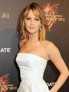 Jennifer Lawrence at The Hunger Games: Catching Fire party in Cannes #curly #wavy #hairstyle