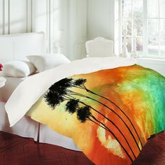 "These sheets sets make me want to make my bed!    DENY Designs Home Accessories | Madart Inc. ""Desert Mirage"" Duvet Cover"