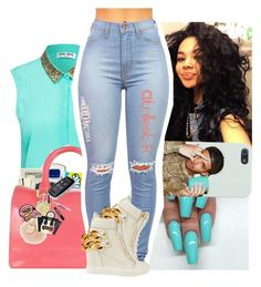 """he say I'm bad... he prolly right"" by trillest-k ❤ liked on Polyvore featuring Vero Moda and Giuseppe Zanotti"