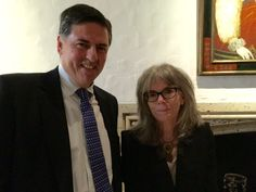 Sergio Troncoso and Elizabeth Tallent (author of Mendocino Fire) at the Folger Shakespeare Library for the 2016 PEN/Faulkner Award for Fiction.