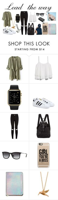 """Going on a trip,a road trip"" by unknownandloveit on Polyvore featuring MANGO, adidas, New Look, Prada, Ray-Ban, Casetify and Alex Monroe"