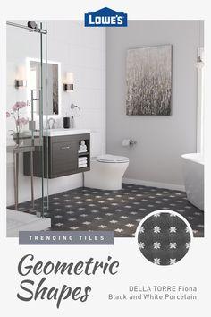 Choose from trending porcelain & ceramic tile flooring in stock now at Lowe's. Bathroom Design Small, Bathroom Layout, Bathroom Interior Design, Modern Bathroom, Bathroom Ideas, Minimalist Bathroom, White Bathroom, Ikea Bathroom, Bathroom Plants
