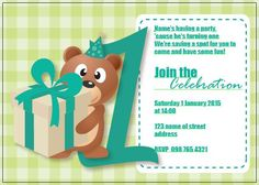 BFY_011 Invite, Invitations, Turning One, Baby First Birthday, Have Some Fun, First Birthdays, Rsvp, Monkey, Place Card Holders