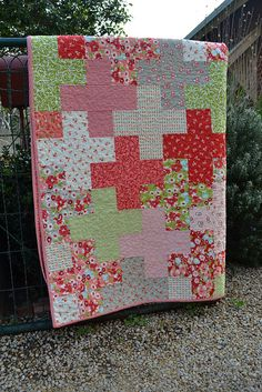 Ruby Plus Quilt by sew, via Flickr