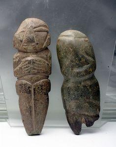Pre-Columbian figurines, Mexico, Mezcala, ca. 500-200 BCE adn 250- 650 CE.