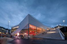 a new cultural center designed to provide useful dynamic spaces within and ontop of the building, making the envelope just as important to the program as the interior.