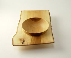 Wood Winged Bowl in Salvaged Apple Wood 9 Long by SalvageWoodworks, $75.00