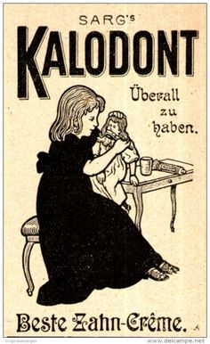Original-Werbung/ Anzeige 1898 - SARG'S KALODONT ZAHNCRÊME - ca. 45 x 75 mm