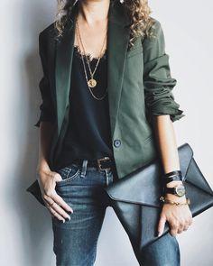 Alterations Needed - Fashion Tips, Style Advice, Petite Fashion - Women's Fashion Queer Fashion, Look Fashion, Fashion Outfits, Blazer Kaki, Orange Blazer, Fashion For Petite Women, Womens Fashion, Camisole Outfit, Lace Camisole