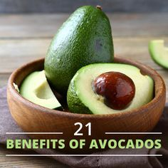 Avocados are so amazing for you! We put together 21 Health Benefits of Avocado for you! #avocados #healthyfats