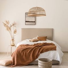 SIMPLE~Beautiful Styling with that pop of rust, one of my favourites if you hadn't guessed already! We will have some Cactus Silk Cushions landing very soon and they would look stunning here. .  Subscribe to our Hygge Family to get first peek when they arrive + 10% off your first order with us. .  www.simplyhygge.com.au . . . . #interior4u #interior9508 #interiordecor #coastalhome #homestyling #homestyle #homedetails #whitehome #myhome #whiteandbright #interiors #homedecor #coastaldecor… Bedroom Bed, Bedroom Inspo, Bedroom Decor, Zara Home Bedroom, Bedrooms, Ikea Bedroom, Cozy Bedroom, Bedroom Inspiration, Bedroom Ideas