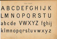 Schriftarten und  Zierschriften pm 1890  steinschrift
